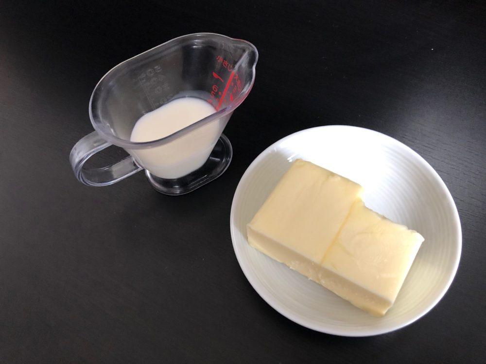 牛乳とバター