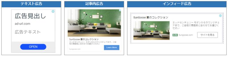 広告は3種類